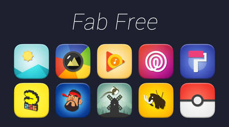 [FREE] [ANDROID] Fab Icon Pack by casaurabh