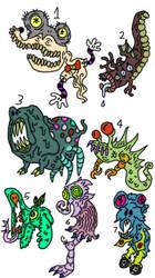 Modern monsters by DiplodocusDinosaur