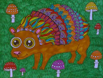 A Lil' Hedgehog by Liquid-Mushroom