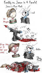 Freddy vs Jason in 4 Panels by zarla