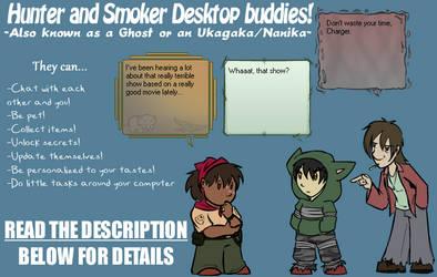 Hunter and Smoker Ukagaka/Ghost by zarla