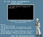 Dr. Gaster Ukagaka/Ghost by zarla