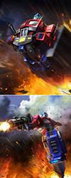 TRANSFORMERS LEGENDS Optimus Prime by manbu1977