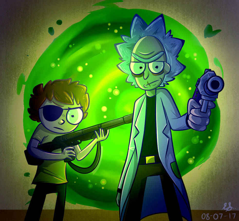 Evil rick and morty by typhda on deviantart - Evil morty wallpaper 4k ...