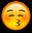 Blushing Kissy Face Emoji