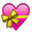 Heart Bow Emoji by catstam