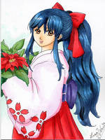 Sakura christmas card by lithele