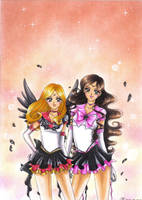 C: Eternal Sailor Sun and Eternal Sailor Asteroid by MTToto