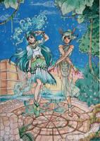 C: Sailor Chalchiuhtlicue and Sailor Tlaloc by MTToto