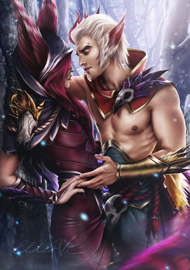 League of Legends - Xayah x Rakan by Eldervi