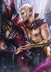 League of Legends - Xayah and Rakan by Eldervi