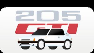 Peugeot 205 gti by erikvandijk