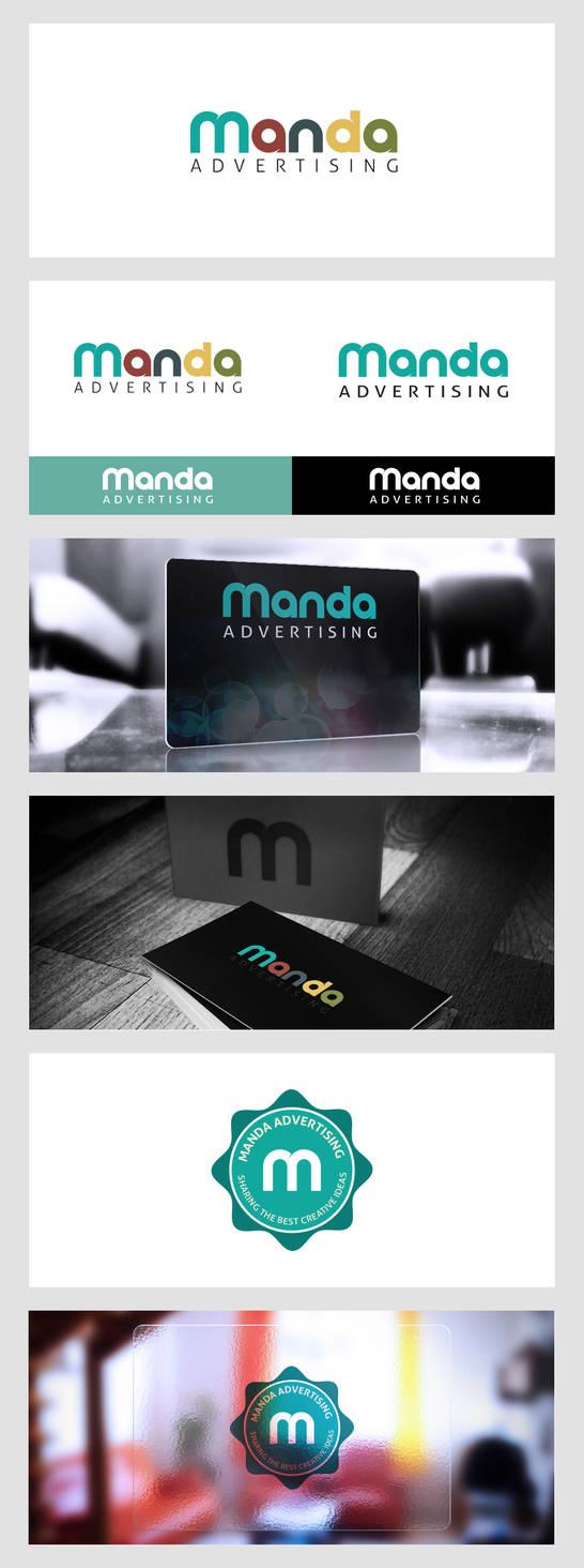 Manda Advertising Logo Design by samadarag