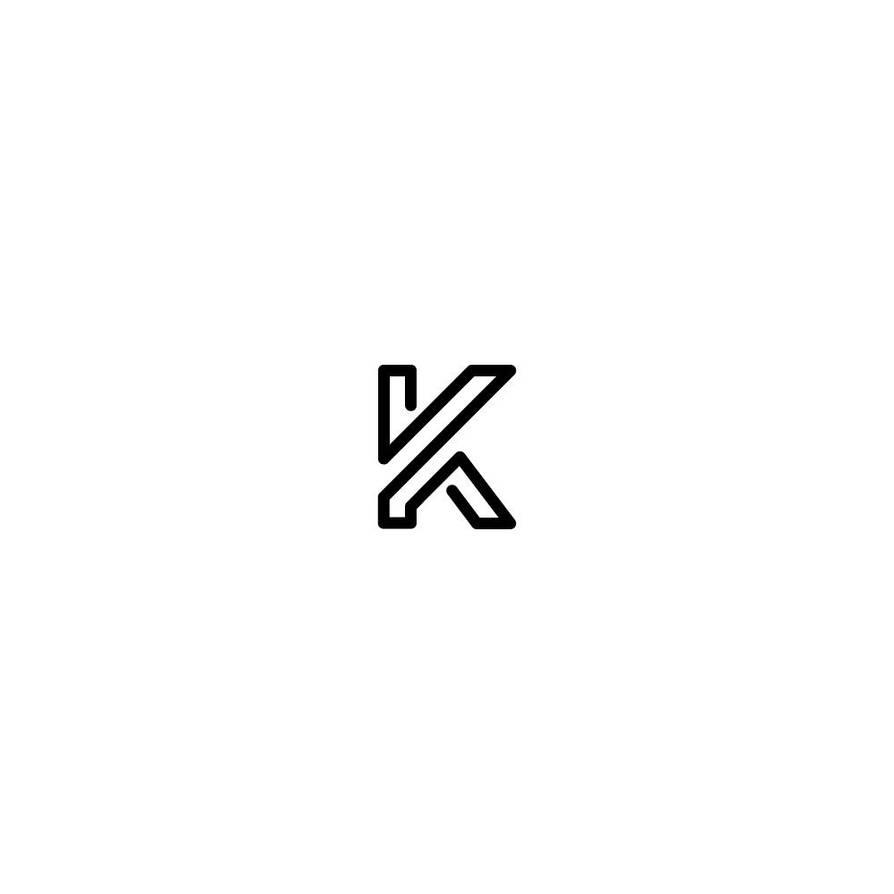 Letter K monogram by samadarag