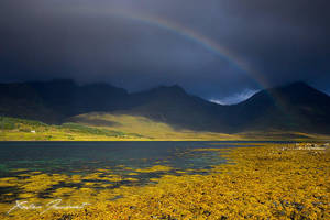 Rainbow and Cuillins by XavierJamonet