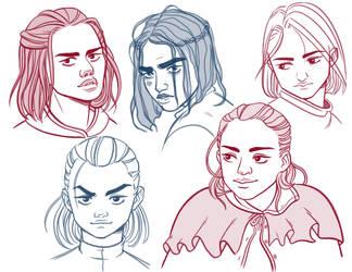 Arya sketches by Daaakota