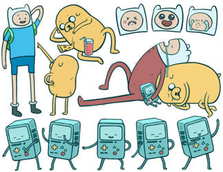 Adventure Time Sketches by Daaakota
