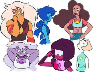 Steven Universe Sketches by Daaakota