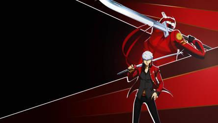 [RED] Yu Narukami and Izanagi Wallpaper 1080p by blubxer