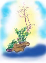 a sketch of Ms. hujisawa's flower arrangement by duf20