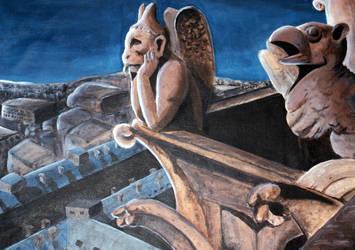 Dreamin Gargoyle by SamiShahin-Art