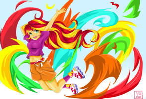 Equestria Girls Friendship Games: Sunset Shimmer by MinusClass