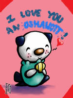I Love You an Oshawott Valentine by Cubone4000