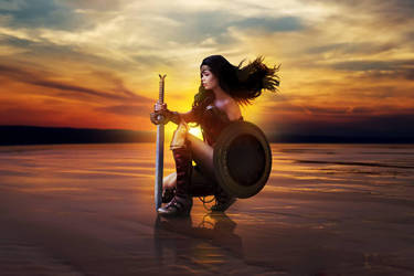 Wonder Woman Cosplay - Cinema Poster Inspired by TineMarieRiis