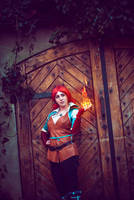 Triss Merigold from Witcher 3 by SenapiCosplay