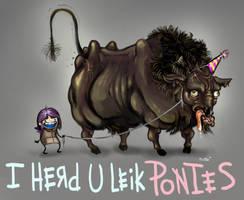 I HERD U LEIK PONIES by 7734-01