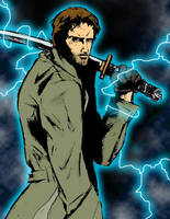 Colored Connor MacLeod sketch by NiteOwl94