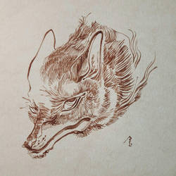 Fox inktober by jinyunxuan