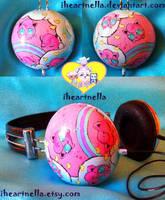 Jigglypuff Headphones 2.0 by Iheartnella