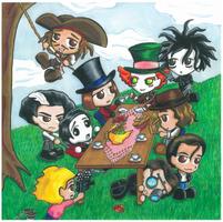 Johnny Depp tea party by Kasandra-Callalily