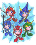 Ronin Warriors chibis by Kasandra-Callalily