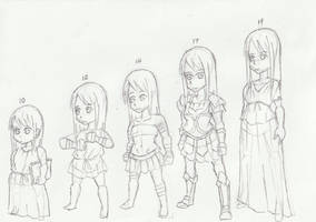 Character: Demetria Snow (age stages) by WongSsj