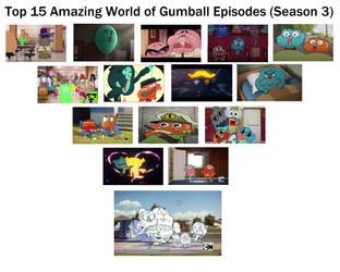 Top 15 The Amazing World of Gumball Eps (Season 3) by RaccoonBroVA