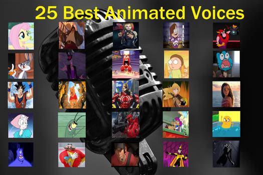 25 Best Animated Voices #1 by RaccoonBroVA