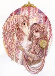 The Unicorn's rider by theGrayStray