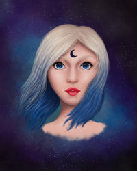Moon Girl by icerynn