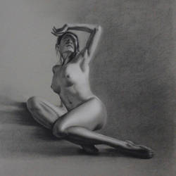 Long pose figure study by Maciesowicz