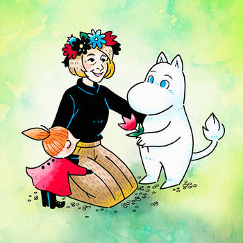 Tove Jansson and Moomins by nya-nannu
