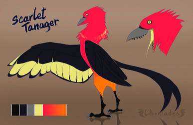 Scarlet Tanager Wyvian [OPEN] by Libertades
