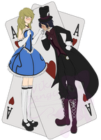 Alice and Mad Hatter by VikiFangirl