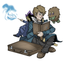 Newt Scamander by VikiFangirl