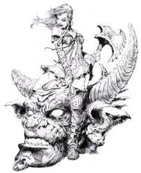female warrior by dannycruz4