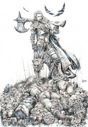 Female Warrior Commission by dannycruz4