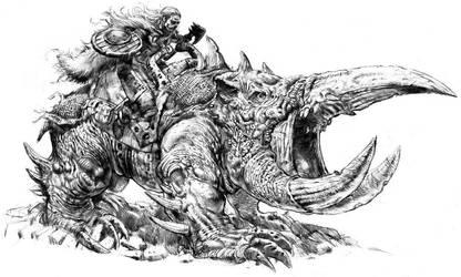 Troll Beast and Rider by dannycruz4