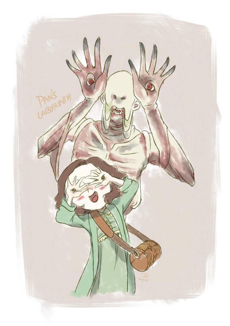 Pale Man Monster And Ofelia By Yaninpoart On Deviantart