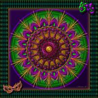 QH-20170208-Mardi-Gras-Mandala-v8 by quasihedron